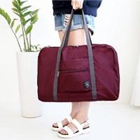 Travel-Folding-Carry-Bag-สีเลือดหมู