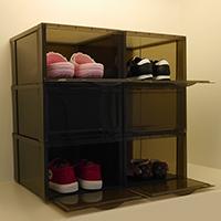กล่องใส่รองเท้าและของใช้-SHOE-BOX-สีดำ(6-ชิ้น)