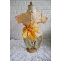 ชุดไทยเด็กชายพร้อมผ้าพาด-พี่หมื่น-สีทอง