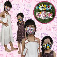 หน้ากากผ้าเด็ก-3-ชั้น-Kitty-n-Minnie-(แพค-2-ชิ้น)