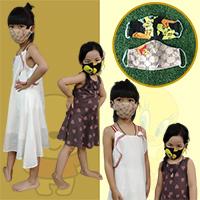หน้ากากผ้าเด็ก-3-ชั้น-Pooh-n-Tweety-(แพค-2-ชิ้น)