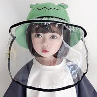 หมวกพร้อมหน้ากากป้องกัน-สไตล์เกาหลี-ลายกบเคโระ