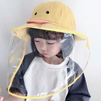 หมวกพร้อมหน้ากากป้องกัน-สไตล์เกาหลี-ลายเป็ดน้อย