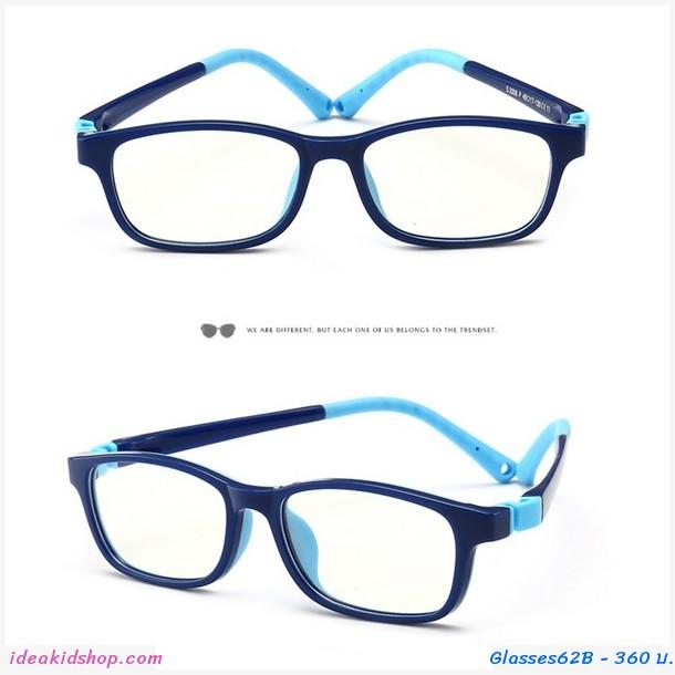แว่นตาเด็ก กรองแสงสีฟ้า Anti-blue light สีน้ำเงิน