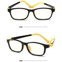 แว่นตาเด็ก-กรองแสงสีฟ้า-Anti-blue-light-สีเหลืองดำ