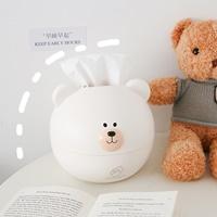 กล่องกระดาษทิชชู่-น้องหมี-สีขาว