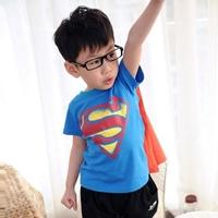 เสื้อยืดเด็กแฟชั่น_ผ้าคลุม-ลาย-Superman