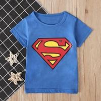 เสื้อยืดเด็ก-ลาย-Superman-สีฟ้า