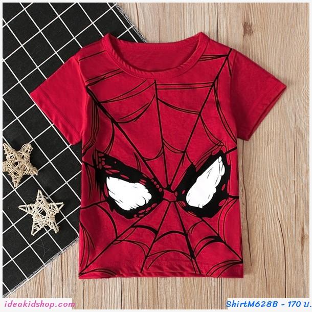 เสื้อยืดเด็ก ลาย Spiderman สีแดง