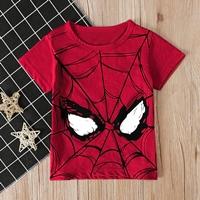 เสื้อยืดเด็ก-ลาย-Spiderman-สีแดง