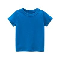 เสื้อยืดเด็กพื้นเรียบ-สีน้ำเงิน