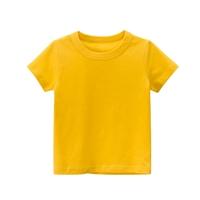 เสื้อยืดเด็กพื้นเรียบ-สีเหลือง