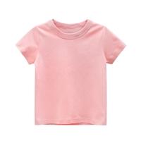เสื้อยืดเด็กพื้นเรียบ-สีชมพู