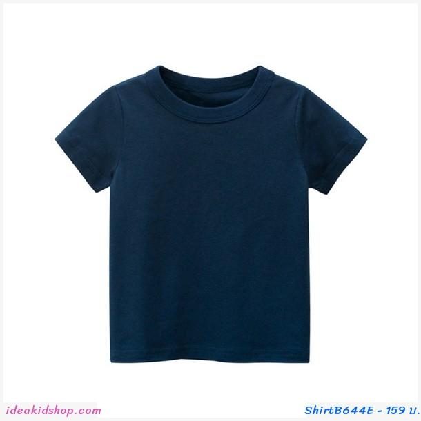 เสื้อยืดเด็กพื้นเรียบ สีกรม