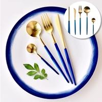 เซตทานอาหาร-Gold-Premium-สีฟ้าคราม(เซต-5-ชิ้น)