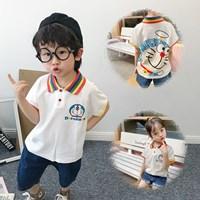 เสื้อเชิ้ตคอปกแขนสั้น-Doraemon-Rainbow-