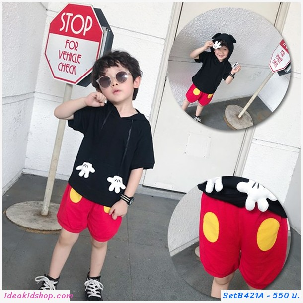 ชุดเสื้อกางเกง Mickey Mouse