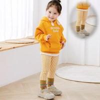 กางเกงเด็กขายาวลายสก๊อต-สีเหลือง