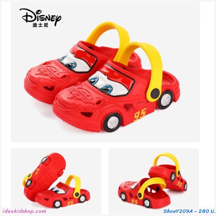 รองเท้าเด็กสไตล์ Crocs  Cars มีล้อ สีแดง