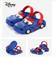 รองเท้าเด็กสไตล์-Crocs--Cars-มีล้อ-สีน้ำเงิน