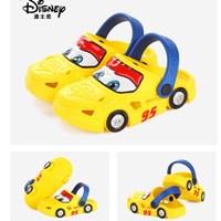 รองเท้าเด็กสไตล์-Crocs--Cars-มีล้อ-สีเหลือง