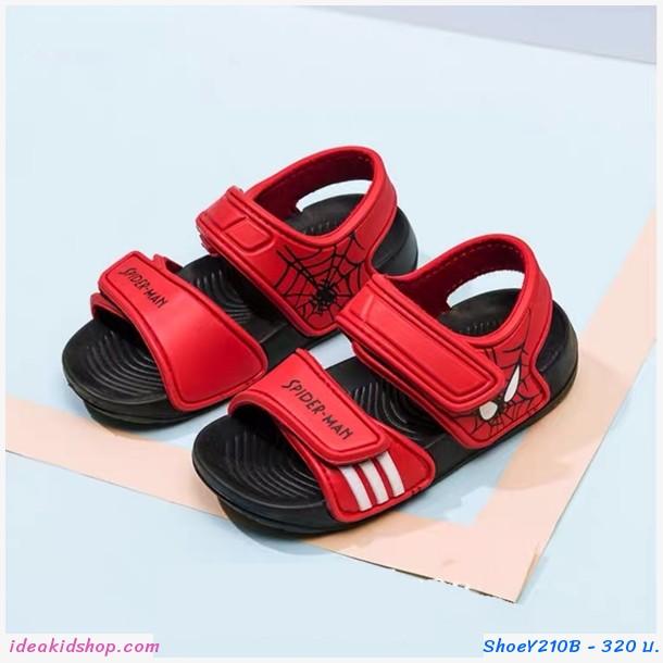 รองเท้ารัดส้น soft-soled beach shoes ลาย Spiderman