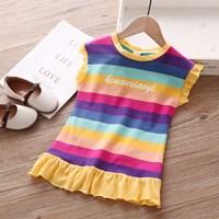 ชุดเดรสแฟชั่น-Rainbow-สายรุ้ง-ปลายเหลือง