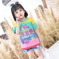 เสื้อยืดเด็กแฟชั่นเกาหลี-BUBBLE-GUM-สีรุ้ง