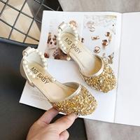 รองเท้ารัดส้นแต่งมุก-สไตล์เจ้าหญิง-สีทอง