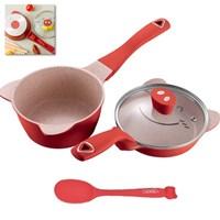 เซตทำอาหาร-Didinika-หมูยิ้ม16cm.-สีแดง(ได้-4ชิ้น)