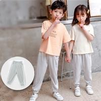 กางเกงวอร์มแฟชั่น-แถบขาวคู่-mosquito-pants-สีเทา