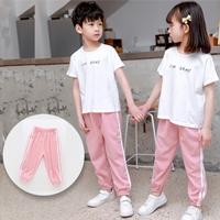 กางเกงวอร์มแฟชั่น-แถบขาวคู่-mosquito-pants-สีชมพู