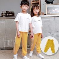 กางเกงวอร์มแฟชั่น-แถบขาวคู่-mosquito-pant-สีเหลือง