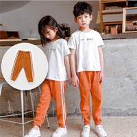 กางเกงวอร์มแฟชั่น-แถบขาวคู่-mosquito-pant-สีส้ม
