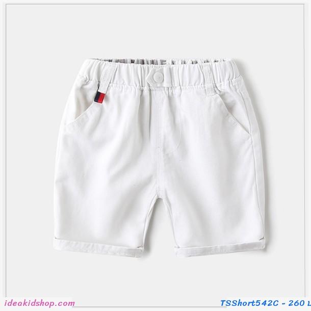 กางเกงเด็กขาสั้น WAPYPY สีขาว