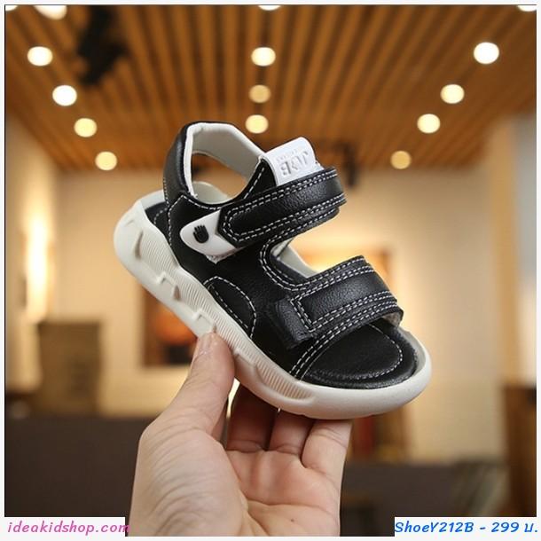 รองเท้ารัดส้น Fashion Sport สีดำ