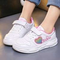 รองเท้าผ้าใบแฟชั่น-LOVE-สีขาวชมพู