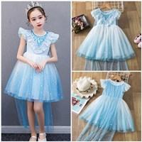 ชุดเจ้าหญิง-Elsa-Frozen-พร้อมผ้าคลุม(ได้2ชิ้น)