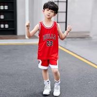 ชุดเสื้อกางเกงบาสเก็ตบอล-BULLS23-สีแดง