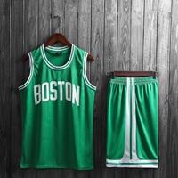 ชุดกีฬานักบาสเก็ตบอลเด็กโต-BOSTON-สีเขียว