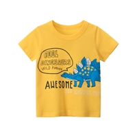 เสื้อยืดเด็ก-ลายไดโนเสาร์-สีเหลือง