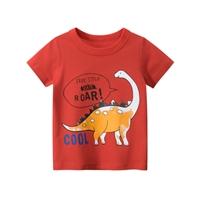 เสื้อยืดเด็ก-ลายไดโนเสาร์-สีแดง