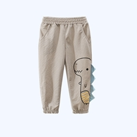 กางเกงขายาว-ลายไดโนเสาร์-สีเทาอ่อน