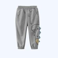 กางเกงขายาว-ลายไดโนเสาร์-สีเทาเข้ม