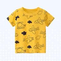 เสื้อยืดเด็กแฟชั่น-ลายเครื่องบิน-สีเหลือง