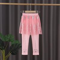 กระโปรงกางเกงเลกกิ้ง-Frozen-สีชมพู