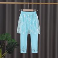 กระโปรงกางเกงเลกกิ้ง-Frozen-สีฟ้า