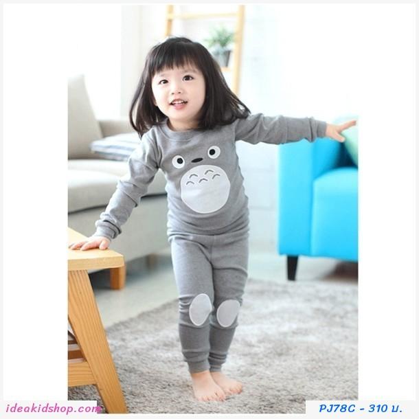 ชุดนอนเด็ก ลายการ์ตูนโทโทโร่ Totoro สีเทา