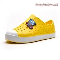 รองเท้าแฟชั่นเด็กสไตล์-Native-สีเหลืองขาว
