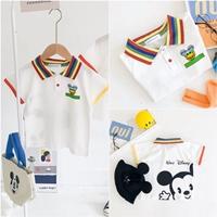 เสื้อเชิ้ตคอปกแขนสั้น-Mickey-Rainbow